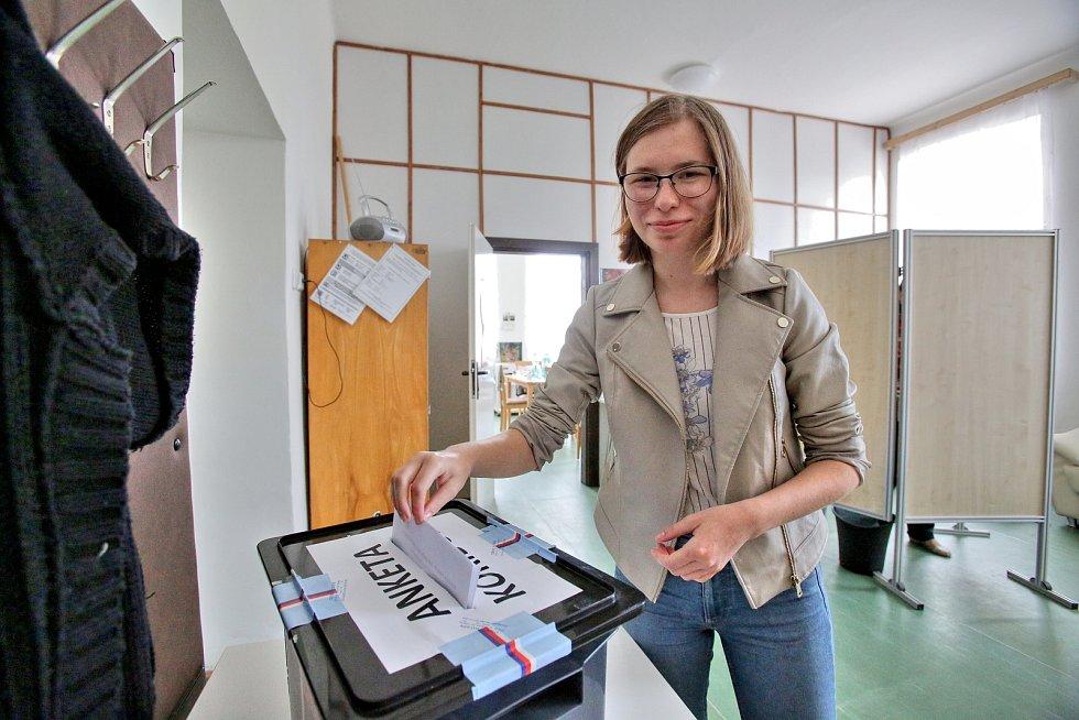 Dobřejovičtí občané volí dvakrát. Rozhodují o Evropském parlamentu a výstavbě železničního koridoru.