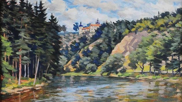 Mistři české malby má název výstava, kterou nabízí do 30. listopadu Jihočeské muzeum. Jde o díla z fondu České spořitelny. Na snímku obraz Klokoty od Jaroslava Lindera.