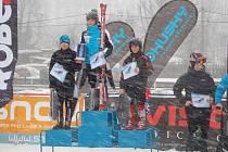 Martin Hrabák Skiklubu Písek na bronzovém stupínku