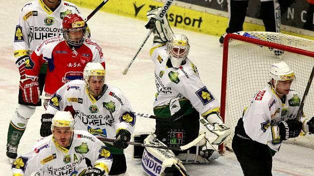 Utkání hokejové Tipsport Extraligy mezi HC České Budějovice a HC Energie Karlovy Vary.
