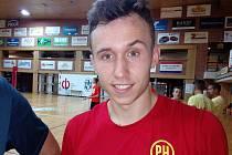 Polský volejbalový smečař Jihostroje Pawel Halaba
