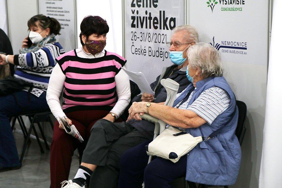 Očkovací centrum na českobudějovickém výstavišti.