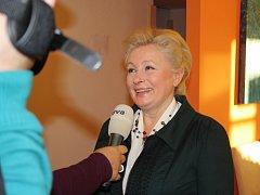 Zuzana Roithová ve svém volebním štábu.