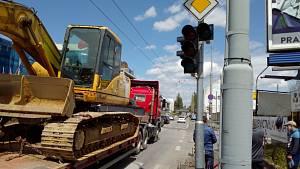 Rekonstrukce křižovatky Pražské třídy a ulice Karoliny Světlé
