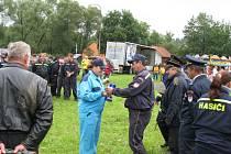 Údolská slavnost se konala v sobotu v Údolí u Nových Hradů. Kromě hasičských soutěží nebo kolotoče pro děti, nabídla i vodní fontánu.