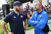 David Štich (vlevo) v rozhovoru s trenérem Jaroslavem Modrým.R