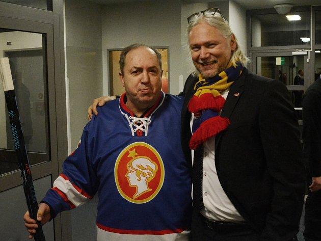 Stanislav Bednařík (vpravo) s Milanem Novým.