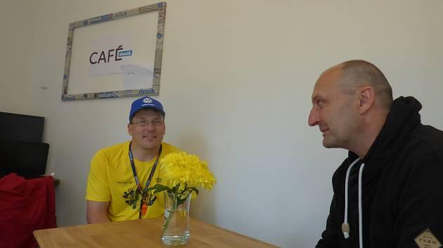 Redaktoři Deníku zpovídali účastníky 7. ročníku budějovického půlmaratonu. Na snímku Pavel Miškolci.