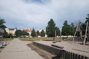Sokolský ostrov v centru Českých Budějovic.