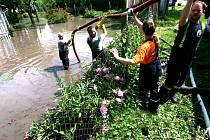 Od roku 2002 zápasili lidé s vodním živlem v Českých Budějovicích už několikrát. Ilustrační foto.