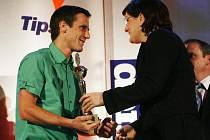 Vyhlášení nejlepších sportovců Jihočeského kraje. Martin Bína byl na pátém místě.