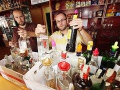 Petr Smutný a David Matějíček (zleva) z českobudějovického Café klubu Slavie.