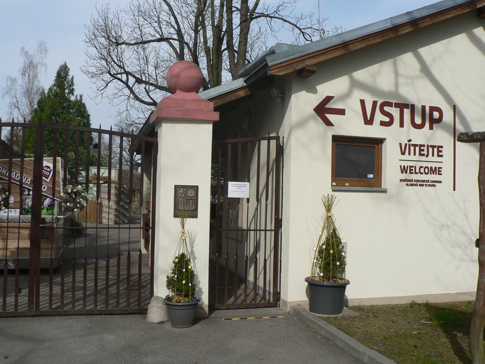 Zákazníky přivítají znovu od 12. dubna 2021 papírnictví, do škol smí polovina dětí na 1. stupeň a s omezenou kapacitou mohou otevřít i zoologické zahrady (na snímku Hluboká nad Vltavou).