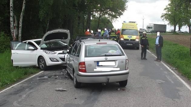 Nehoda u Trhových Svinů.