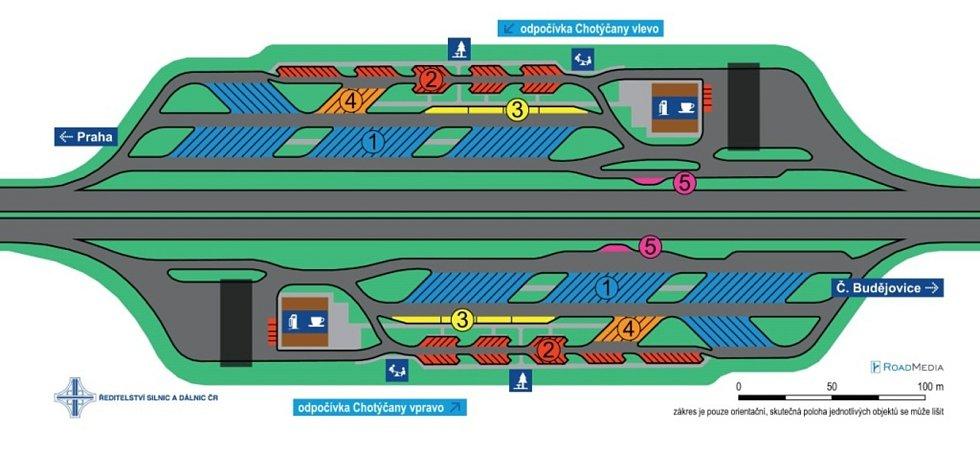 U Chotýčan vznikne při dálnici D3 středně velká odpočívka.