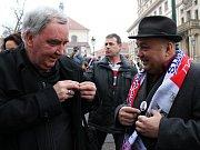 Prezidentské inaugurace se zúčastnila i řada Zemanových příznivců z jihu Čech.