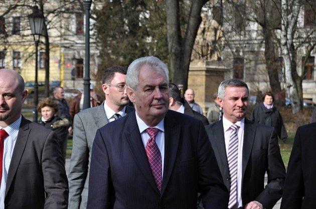 Návštěva prezidenta Miloše Zemana v Písku