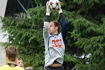 Zdeněk Křížek podal v zápase proti FC Vaslui v bráně Dynama velmi dobrý výkon.