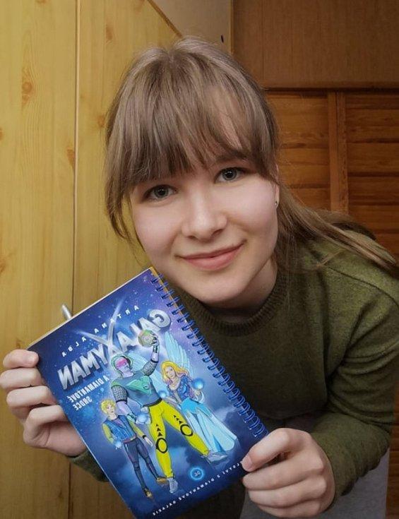 Publikaci, kterou vydala prvním nákladem 200 kusů, zdařile ilustrovala mladá nadějná studentka Kamila Doubková.