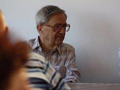 Miloň Čepelka na setkání dechových kapel.
