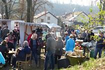 První letošní trhy v Boršově nad Vltavou.