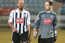 Zdeněk Křížek spolu s Romanem Lengyelem po zápase s Varnsdorfem.