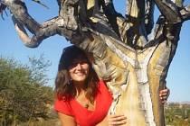 Kateřina Homolková v Africe.