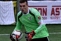 Kamil Hajdušek při svém debutu za áčko Dynama v Tipsport lize udržel proti Žižkovu čisté konto.