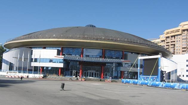 Palác sportu v Jekatěrinburgu, kde by si na halovém turnaji mohli zahrát i mladí fotbalisté z jihu Čech.