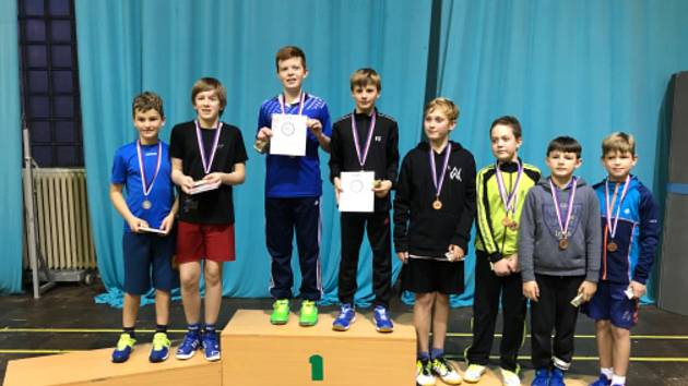 Českokrumlovští badmintonisté se zúčastnili turnaje hráčů do 13 let v Českých Budějovicích.