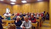 Po prohlídce stavby následovala beseda s občany na českobudějovickém magistrátu.