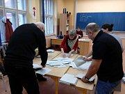 Volební místnosti prvního kola volby prezidenta se uzavřely. Začíná sčítání hlasů. Snímek je z Českého Krumlova.