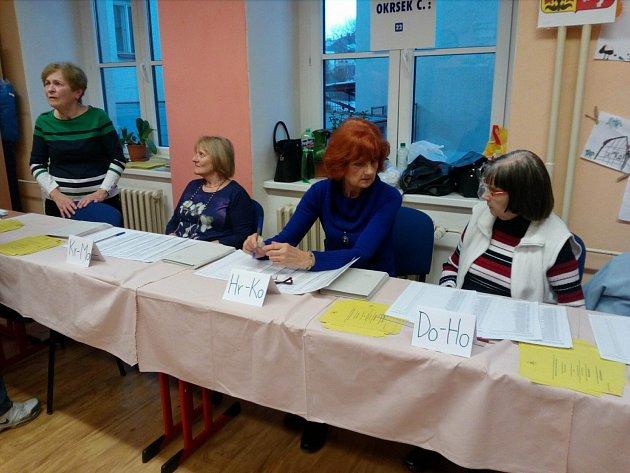Ve volebním okrsku vcírkevní základní škole na českobudějovické Rudolfovské třídě dávali voličům na výběr ihlasovací lístek náhradníka Pavla Fischera.