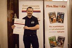 Sládek Samsonu Radim Lavička si převzal vítěznou cenu.