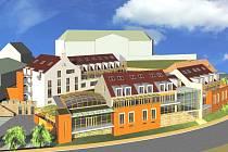 Komplex budov hlubockých lázní vyroste mezi sokolovnou a restaurací Na Růžku do 30. června 2010.