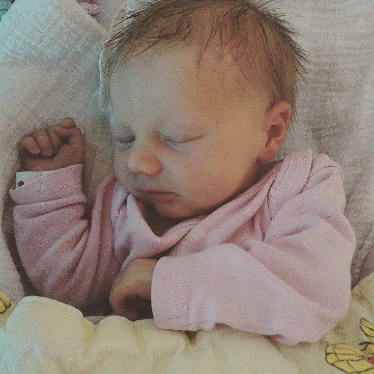 Ela Lovčíková se narodila 5. 12. 2020 v 5.30 h v českokrumlovské nemocnici. Měřila 50 cm a vážila 3 kg. Radost dělá rodičům Lence Lovčíkové a Františku Haklovi