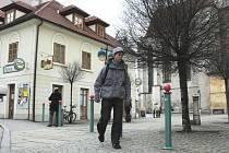 Pizzerie na Piaristickém náměstí v Českých Budějovicích.