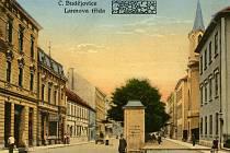Továrna na cukrovinky na Lannově třídě v období 1. republiky.