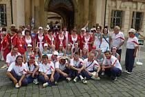 Současní sokolové z Lišova si nenechali ujít  ani loňský slet v Praze, na který nacvičili hned několik skladeb.