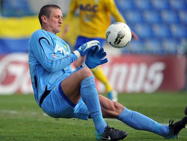 Tomáš Grigar v Č. Budějovicích dostal tři góly, řadu dalších šancí domácích ale zmařil.