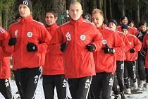Fotbalisté Dynama v rámci zimní přípravy, kterou zahájili ve Frymburku, odjeli ke dvěma zápasům do Německa.
