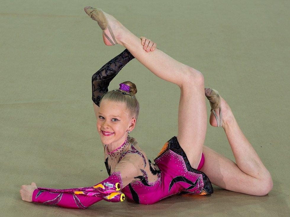 Talentovaná gymnastka Viktorie Jelínková z SKMG Máj Č. Budějovice