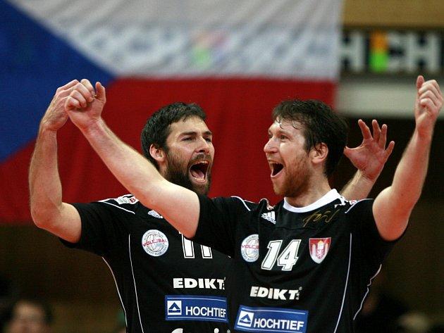 První zápas finálové série Uniqa volejbalové extraligy mužů mezi VK Jihostroj České Budějovice a VK Dukla Liberec.