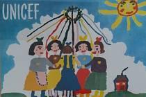 Pohlednice pro UNICEF v Rudolfově.