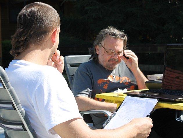 Jedním z lektorů workshopu byl Ivo Trajkov, rodák z Makedonie, který už napsal a režíroval několik celovečerních filmů, například Ocas ještěrky nebo Velká voda.