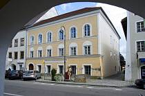 Hitlerův rodný dům v Braunau.