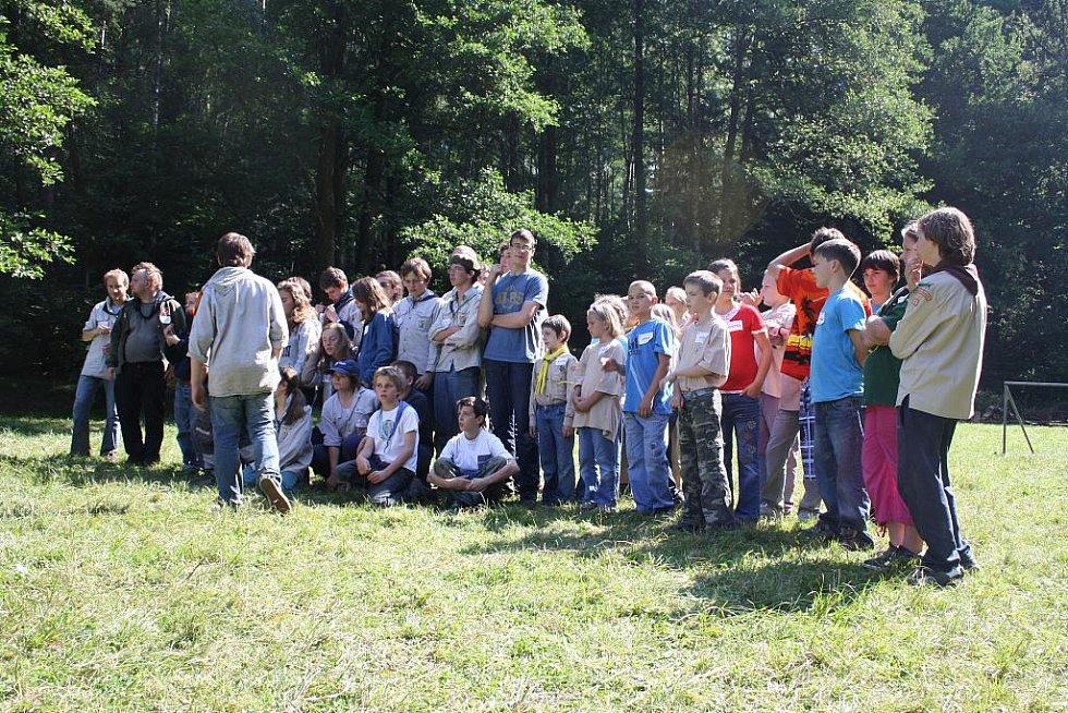 Táborníci z Horní Stropnice hostili návštěvu z Belgie.