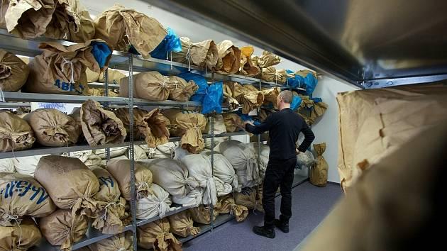 Po Stasi zbyly také pytle sešrotovaných spisů.