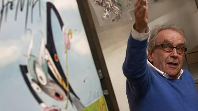 Kreslíř Gerald Scarfe, autor výtvarné podoby alba The Wall, vystavuje do 31. prosince v Egon Schiele Art Centru.