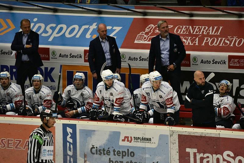 Hokejová extraliga: Motor ČB - Plzeň.